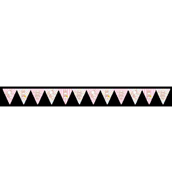 Banderín para baby shower niña