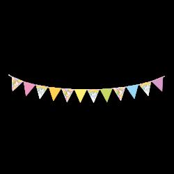 Banderín para decorar fiesta de cumpleaños