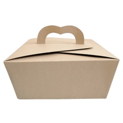 Caja para empaque y repostería en Kraft