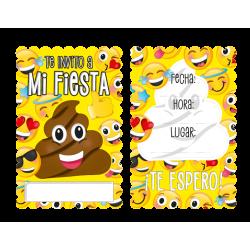 Tarjeta de Invitación para fiesta de Emojis