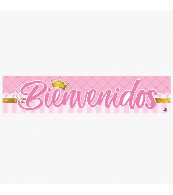 Banner Fiesta Princess para cumpleaños