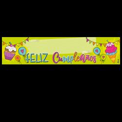 Letrero de cumpleaños Banner 02 (Grande)