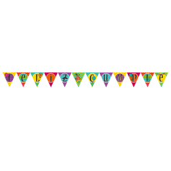 Letrero Banderín Triángulo Cumpleaños
