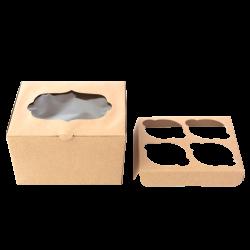 Caja para un cupcake con agarre en kraft