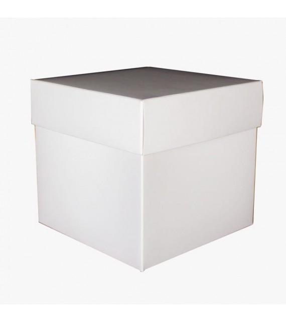 Caja en color blanco con tapa para regalo CTE-BL