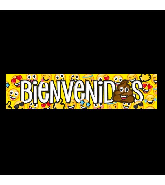 Banner Fiesta Emoji para cumpleaños