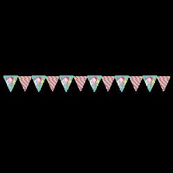 Letrero Banderín Fiesta Sirena