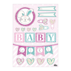 Adhesivo decorativo Deko Baby Shower Niña 01-04